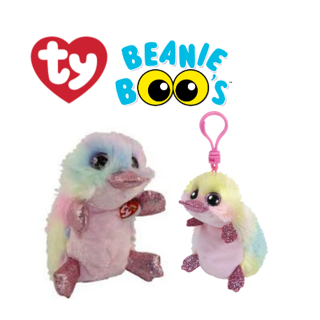 Ty Plush Toys (Malaysia Official) Beanie Boos Clip and Regular Petunia the Platypus Soft Toys