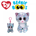 Ty Plush Toys (Malaysia Official) Flippables Clip, Regular and Medium Whimsy the Sequin Blue Iridescent Cat Sequins Soft Toys