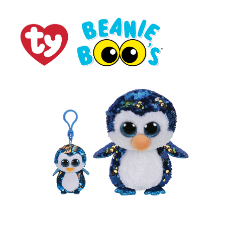 Ty Plush Toys (Malaysia Official) Flippables (Multiple Sizes)  Payton The Sequin Penguin Sequins Soft Toys
