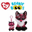 Ty Plush Toys (Malaysia Official) Flippables (Multiple Sizes) Jewel The Sequin Pink Fox Sequins Soft Toys