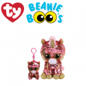 Ty Plush Toys (Malaysia Official) Flippables Clip, Regular and Medium Sunset the Sequin Coral Unicorn Sequins Soft Toys