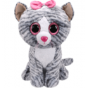 Ty Plush Toys (Malaysia Official) Beanie Boos (Large Size) Kiki the Grey Cat Soft Toys