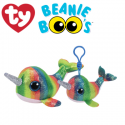 Ty Plush Toys (Malaysia Official) Beanie Boos (Multiple Sizes) Nori The Narwhal Soft Toys