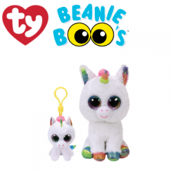 Ty Plush Toys (Malaysia Official) Beanie Boos Clip and Regular Pixy the White Unicorn Soft Toys