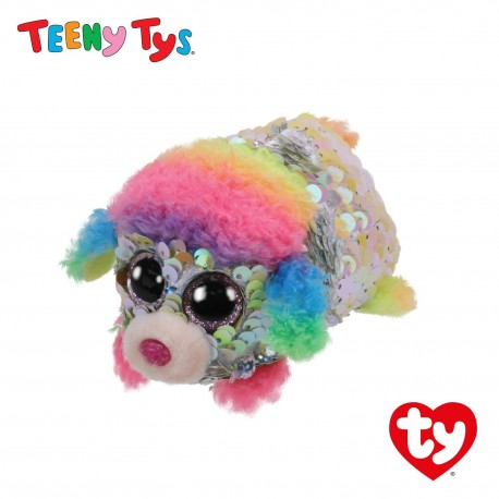 Ty Plush Toys (Malaysia Official) Sequins Teeny Tys Rainbow The Poodle Soft Toys