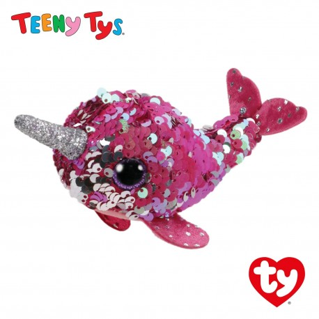 Ty Plush Toys (Malaysia Official) Sequins Teeny Tys Nelly The Narwhal Soft Toys