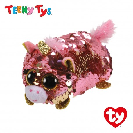 Ty Plush Toys (Malaysia Official) Sequins Teeny Tys Sunset the Unicorn Soft Toys