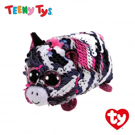 Ty Plush Toys (Malaysia Official) Sequins Teeny Tys Zoey The Zebra Soft Toys