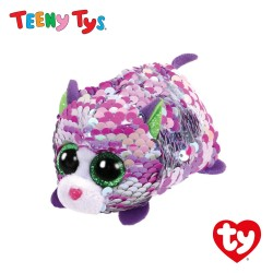 Ty Toys (Malaysia Official) Sequins Teeny Tys Lilac The Cat Soft Toys