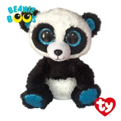 Ty Toys (Malaysia Official) Beanie Boos (Regular Size) Bamboo The Panda Soft Toys