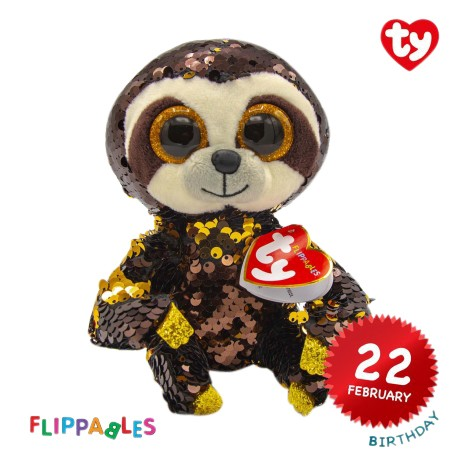 Ty Plush Toys (Malaysia Official) Ty Flippables (Multiple Sizes) Dangler The Sloth Sequins Soft Toys