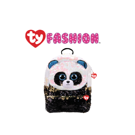 Ty Fashion (Malaysia Official) Sequins Backpack (Large) Bamboo the Panda Accessories Backpacks