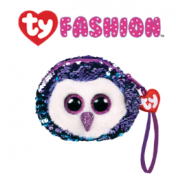 Ty Fashion (Malaysia Official) equins Wristlet Moonlight the Purple Owl Accessories Bags
