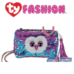 Ty Fashion (Malaysia Official) Sequins Square Purse Moonlight the Purple Owl Accessories Bags