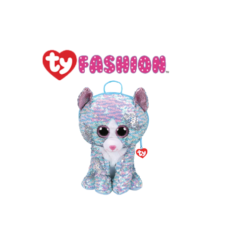 Ty Fashion (Malaysia Official) Sequins Backpack (Large) Whimsy the Iridescent Cat Accessories Backpacks