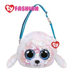 Ty Fashion (Malaysia Official) Sequins Sling Purse Icy the White Seal Accessories Bags