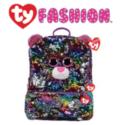 Ty Fashion (Malaysia Official) Sequins Backpack (Large) Dotty The Multicolor Leopard Accessories Backpacks