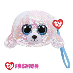Ty Fashion (Malaysia Official) Sequins Wristlet Icy the White Seal Accessories Bags