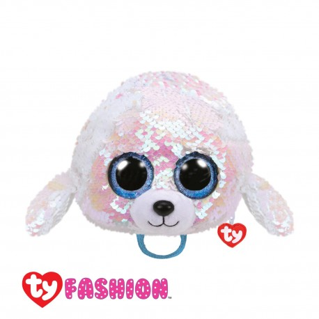 Ty Fashion (Malaysia Official) Sequins Backpack (Large) Icy the White Seal Accessories Backpacks