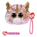 Ty Fashion (Malaysia Official) Sequins Wristlet Fantasia the Pink Unicorn Accessories Bags