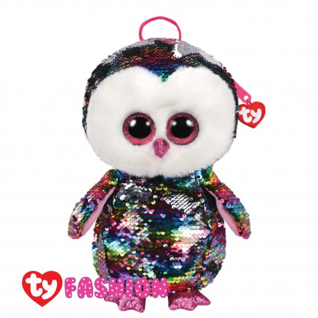 Ty Fashion (Malaysia Official) Sequins Backpack Owen The Multicolor Owl Accessories Bags