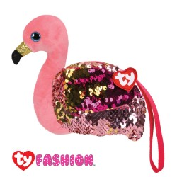 Ty Fashion (Malaysia Official) Sequins Wristlet Gilda the Pink Flamingo Accessories Bags