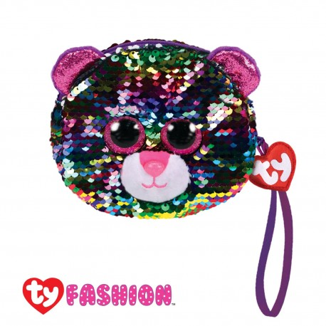 Ty Fashion (Malaysia Official) Sequins Wristlet Dotty The Multicolor Leopard Accessories Bags