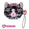 Ty Fashion (Malaysia Official) Sequins Wristlet Kiki the Grey Cat Accessories Bags