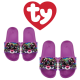 Ty Fashion Footwear (Malaysia Official) Sequin Slides (Size S,M,L) Dotty The Multicolor Leopard Slides Sandals