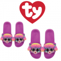 Ty Fashion Footwear (Malaysia Official) Sequin Slides (Size S,M,L) Rainbow the Multicolor Poodle Slides Sandals
