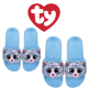 Ty Fashion Footwear (Malaysia Official) Sequin Slides (Size S,M,L) Whimsy the Iridescent Cat Slides Sandals