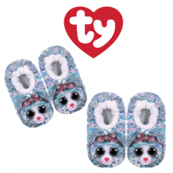 Ty Fashion Footwear (Malaysia Official) Sequin Slipper Socks (Size S,M,L) Whimsy The Iridescent Cat Slipper Socks