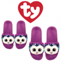 Ty Fashion Footwear (Malaysia Official) Sequin Slides (Size S,M,L) Moonlight The Owl Slides Sandals