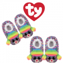 Ty Fashion Footwear (Malaysia Official) Sequin Slipper Socks (Size S,M,L) Rainbow the Multicolor Poodle Slipper Socks