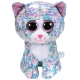Ty Plush Toys (Malaysia Official)  Flippables Clip, Regular and Medium  Whimsy the Sequin Blue Iridescent Cat  Sequins S