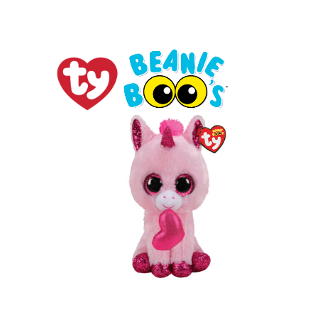 Ty Plush Toys (Malaysia Official)  Beanie Boos Regular and Medium  Darling the Valentine Unicorn  Soft Toys Gift Ideas F