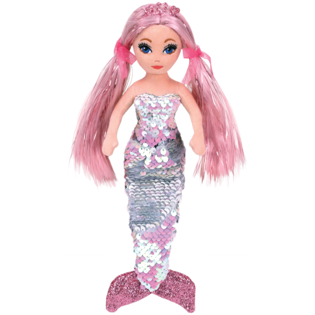 Ty Malaysia Official  Ty Sea Sequin Regular and Medium  Cora the Sequin Pink Mermaid  Sequins Soft Toys for Girls Kids