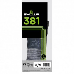 SHOWA 381 Breathable Microfibre Working Gloves (S Size)