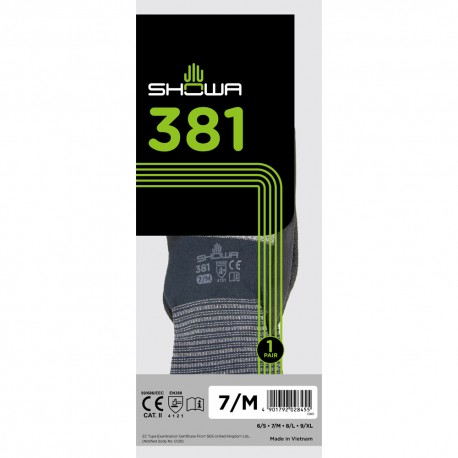 Showa 381 Breathable Microfibre Working Gloves (M Size)