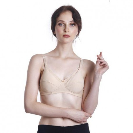 'Fabulous Mom Summertz Cotton Lightly Padded Nursing Bra (Nude)'