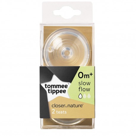 'Tommee Tippee Closer To Nature Bottle Teat - Slow Flow'