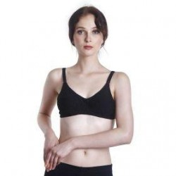 Fabulous Mom Summertz Cotton Lightly Padded Nursing Bra (Black)