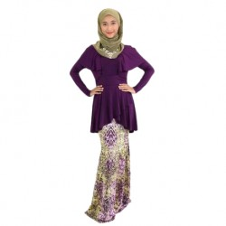'Fabulous Mom Addini Alia Nursing Dress (Purple Rain)'