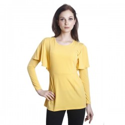 Fabulous Mom Camelia Shoulder Drape (Yellow)