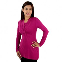 Fabulous Mom Laura V-Neck Nursing Blouse (Maroon)