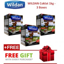 Wildan Goat's Milk (Chocolate) 1kg - 3 Boxes with (Free Gift)