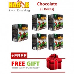 Habib Susu Kambing Extra Coklat - 5 boxes (with Free Gift)