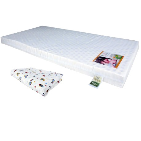"""Bumble Bee Latex Baby Mattress 24x48x3"""" with Fitted Crib Sheet"""