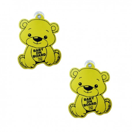Bumble Bee Baby On Board Signage Twin Pack