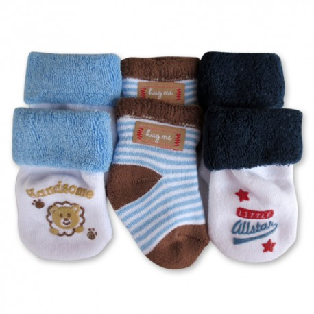 Bumble Bee 3 Pairs Pack Lion Hug Me Socks